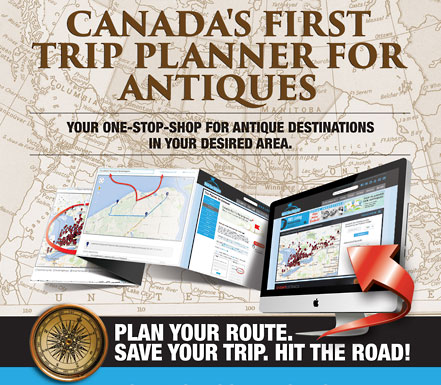 Canada's First Trip Planner for Antiques
